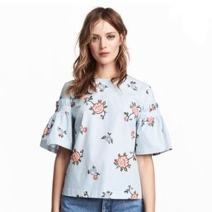 H&M Floral Striped Top